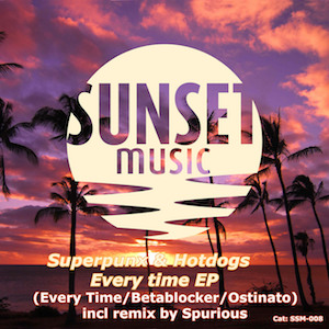 The cover of the Spurious Remix from the song Superpunx & Hotdogs - Everytime released on Sunset Music