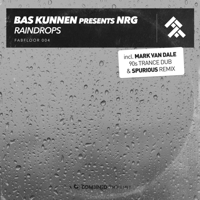 The cover of the uplifting trance single by Bas Kunnen presents NRG containing remixes by Mark Van Dale and Spurious on Fabfloor (Combined Music)